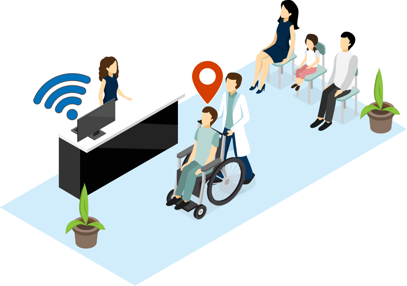 Illustrates asset tracking solution in hospitals